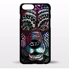 Bear head grizzly bear pattern colorful aztec tie dye graphic phone case cover