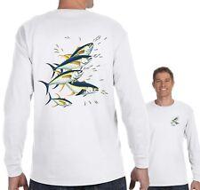 Mens 5 Tuna Fishing Saltwater Fish Fisherman Reel Gift Sport Long Sleeve T-Shirt