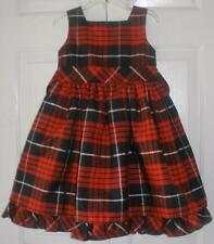 New Youngland Girls Red Black Plaid Christmas Holiday Party Pageant Dress Size 4