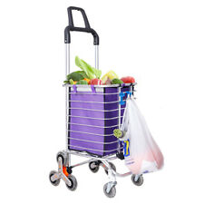 Newly Folding Shopping Cart Stair Climbing Larger Storage Stainless Steel Frame
