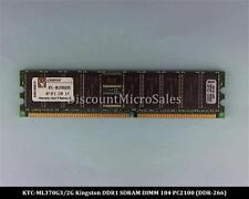 Kingston KTC-ML370G3/2G DDR 2GB 2x1GB PC-2100 Reg ECC 266Mhz RAM Memory