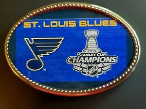 St. LOUIS BLUES   2019 STANLEY CUP Championship Epoxy Buckle