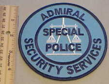 ADMIRAL SECURITY SERVICES SPECIAL POLICE WASHINGTON DC PATCH NEW FREE SHIPPING !