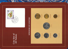Coin Sets of All Nations Lesotho 1 Loti,25,5,2,1 Lisente 1979 50,10 1983 UNC