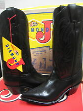 Justin Diamond J Western  Leather Boots Women's 9020  Black Size 4.5 B NEW