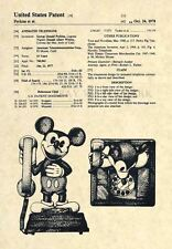 Official Mickey Mouse Telephone US Patent Art Print- Original Walt Disney - 265