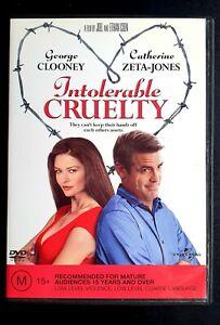 Intolerable Cruelty DVD George Clooney Rom Romantic Comedy Movie Y2K Catherine