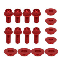 CNC Screw Bolts of Radiator Shrouds For Honda CR125 CR250 CRF450 2003 2004 Red