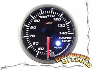 Water Temperature Gauge 52mm with Alarm for Diesel fits Nissan - GREEN BACKLIT