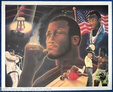 """1980's JOE FRAZIER signed limited edition lithograph (24"""" x 30"""") autographed Ali"""