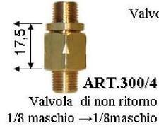Valvola Di Non Ritorno 1/8 Pollici 5,5 Bar Caldaia Ferro A Vapore - Detergente