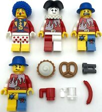 LEGO 4 NEW CIRCUS ACT MINIFIGURES WITH CLOWN CARNIVAL SHOW PIE COBRA MORE