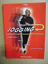 Leçon de jogging progression styles rythmes erreurs à éviter  /J6