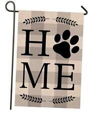 Dog Home Garden Porch Flag, Double Sided Garden Outdoor Yard Spring Decorative