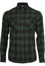 urban Classics Herren Hemd Checked Flanell XL grün - 146605
