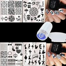 6Pcs Nail Art Stamp Plates Polish Stamper W/Scraper BORN PRETTY Dancing Girl Kit