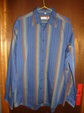 REDFORD XL  43/44  T4 chemise  homme  bleu rayures habillé décontracté casual