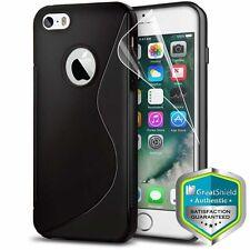 For iPhone 5S 5 SE Black Slim TPU Shockproof Anti Slip Bumper Grip Cas
