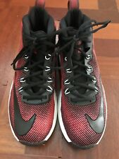 Nike Air Max Infuriate Mid Basketball Shoes, Mens Size US 10, Red Black