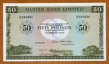 Ireland Northern, Ulster Bank, 50 pounds, 1982, P-329, Ch. UNC with ink transfer