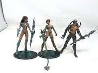 Lot Of 3 Witchblade Medevil Action Figure Moore Action Collectibles Top Cow 1998