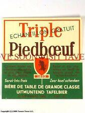 1960s Brouwerij Piedboeuf Triple V2 Label Tavern Trove