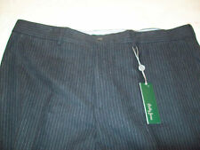 Bobby Jones Cotton Flannel Charcoal Gray Pinstripe Pants NWT 42 waist $195