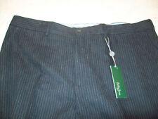 Bobby Jones Cotton Flannel Charcoal Gray Pinstripe Pants NWT 42 waist $195