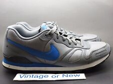 Men's Nike Air Waffle Trainer Cool Grey Soar Blue White Black 429628-099 sz 11.5