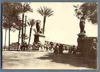 Egypte, Caire (القاهرة), Pont Kasr-el-Nil  Vintage citrate print.  Tirage citr