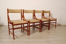 4 Sedie design anni '60, modernariato, manifattura italiana, stile Ico Parisi.