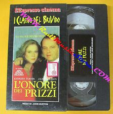 VHS film L'ONORE DEI PRIZZI John Huston L'ESPRESSO CLASSICI BRIVIDO (F30*)no dvd