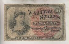 1863 UNITED STATES 10 CENT NOTE - FRACTIONAL CURRENCY WITH BUST OF LIBERTY