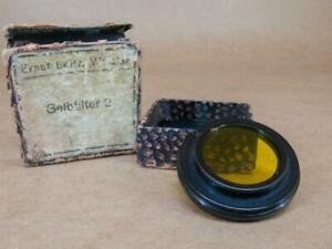 Leitz Leica Early Stepped Mount FILGE A36 No 2  Medium Yellow Filter - Boxed