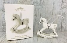 Hallmark Ornament 2012 Baby's First Christmas * Rocking Horse ** FREE SHIPPING