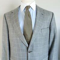 Brooks Brothers 346 44R Silk Wool Mens Sport Coat Blazer Jacket 2 Button 44