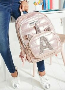 Justice Unicorn Backpack Letter Initial A Full Size