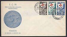 STORIA POSTALE REPUBBLICA 1951 Busta Ufficiale Ginnici non Viaggiata (FB1)