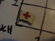 Original Vintage pinback button: RED CROSS FLAG