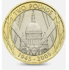 2005 £ 2 60TH anniversaire wwii world war two pound coin hunt 10/32 rare 2 d