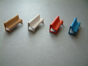 6 Modern Platform Seats 3 D Printed Not Painted or Painted