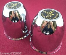 American Eagle Wheels Chrome Custom Wheel Center Caps Set of 2