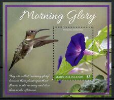 Marshall Islands Flowers Stamps 2019 MNH Morning Glory Hummingbirds Birds 1v S/S