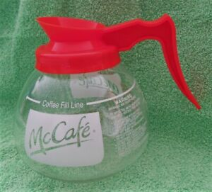 McDonalds McCafe Coffee Replacement Carafe 12 Cup for Bunn Maker Orange & Glass