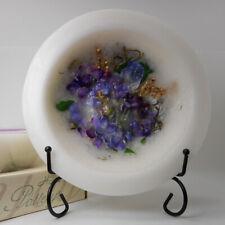 "Habersham Wax Pottery Bowl Lilac Blossom - 7"" Wax Vessel Flameless Usa Made"