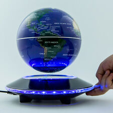 6 Inch LED World Map Decoration Gift Desktop Magneti Floating Maglev Globe Light