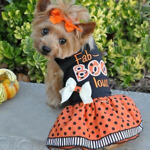 Doggie Design Halloween Dog Harness Dress - Fab-BOO-Lous  XS-S-M-L