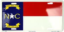"State of North Carolina NC Flag 6""x12"" Aluminum License Plate Tag"