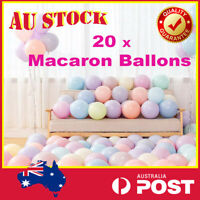 20Pcs 10'' Macaron Pastel Latex Balloons Assorted Party Wedding Baby Shower AU
