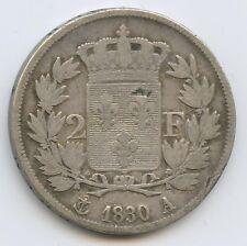 Charles X (1824-1830) 2 Francs argent 1830 A Paris